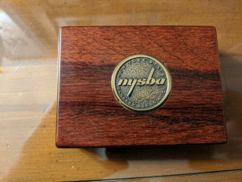 Solid Brass Specialities Desk Box NEW YORK STATE BANKERS ASSOCIATION