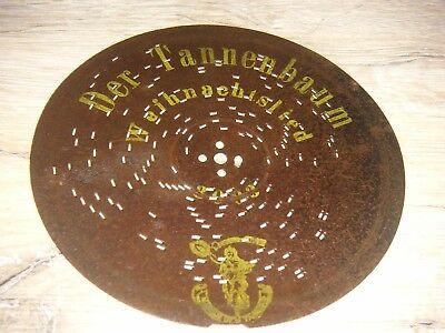 Der Tannenbaum Polyphon Blechplatte 16,4cm Spieluhr Uhr antique music box disc