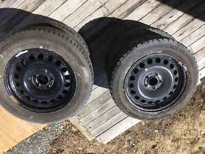 5x127 Steel wheels with tires