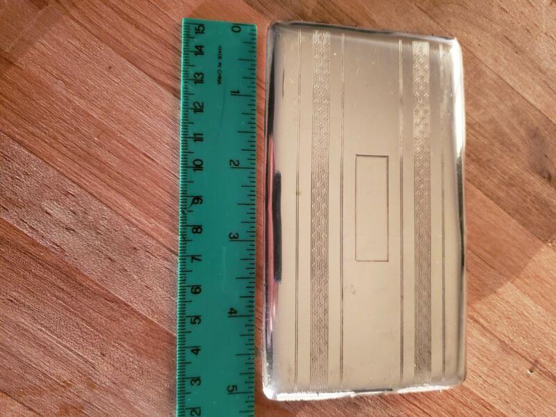 Sterling Silver ELGIN Cigarette Card Case Box No Monogram4.69 oz