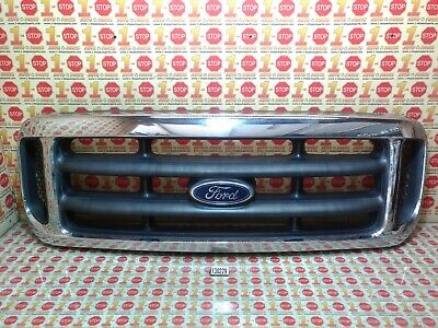 99 00 01 02 03 04 FORD F250 F350 F450 SUPER DUTY UPPER CHROME GRILL GRILLE OEM