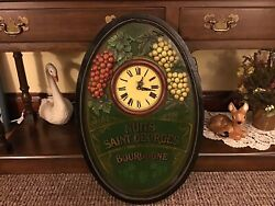 Dewberry London Wood Wall Clock Wine / Vineyard Theme