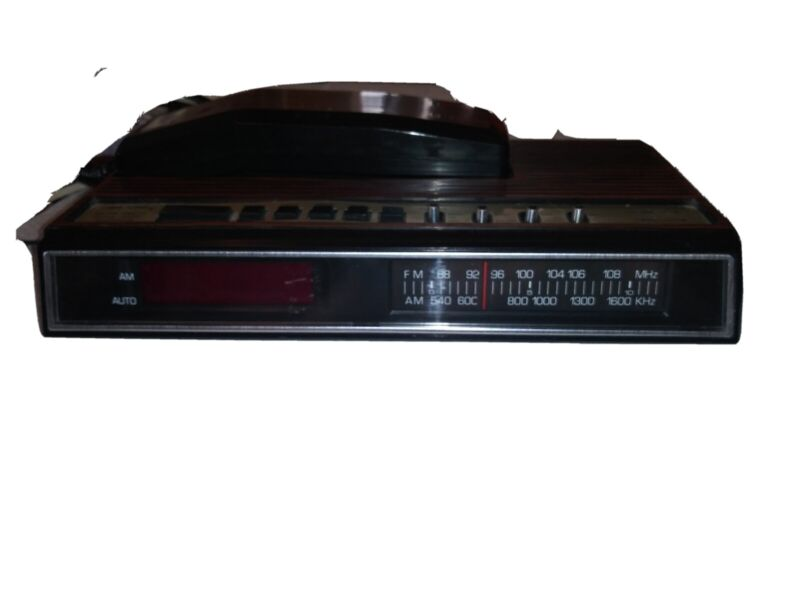 VINTAGE BON SONIC KP550 AM/FM CLOCK RADIO TELEPHONE