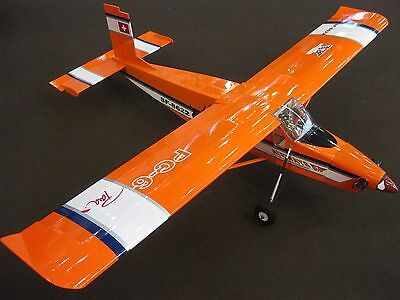 RC 1:9 EP GP PILATUS PC-6 TURBO PORTER 1640 mm ARF Elektro Verbrenner orange