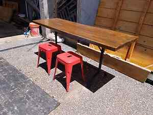 Recycled timber table Port Melbourne Port Phillip Preview