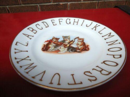 ABC Plate Cat Musicians Vig. Porcelain Germany Child