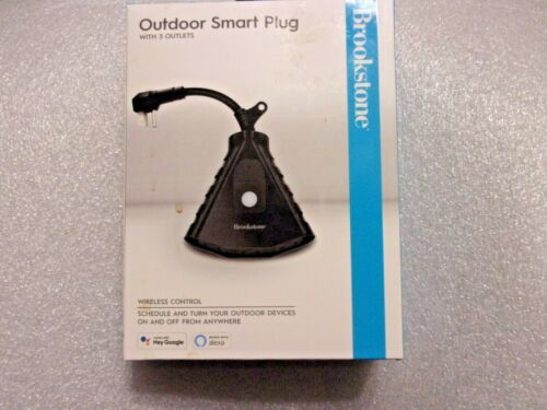 Brookstone Outdoor Smart Plug with 3 Outlets Wi-Fi Remote Controlled