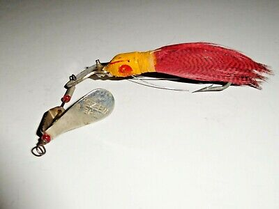 3 Lot Baby Weezel Feather Minnow Fly Rod Size collectible
