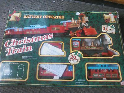 Eztec Battery Operated Santa Express 29 Piece Christmas Train Set Track Caboose