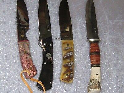 knife collection knives NICE! scagel Northwoods? ram horn custom