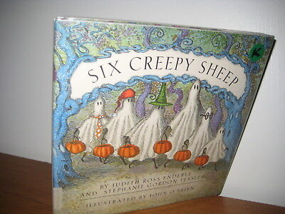 Six Creepy Sheep/  hardback/ jacket/1992/ halloween/ O