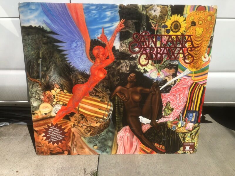 SANTANA ABRAXAS LP VINTAGE TOWER RECORDS Painting Foam-core Store Display SIGN