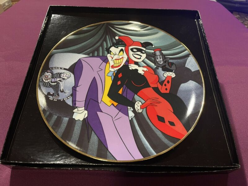 WB BATMAN THE ANIMATED SERIES JOKER AND HARLEY- QUINN COLLECTOR PLATE 434/2500