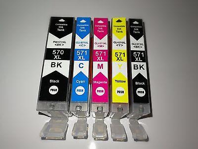 Bk Kompatible Tinte (XL Tinte Patronen 570 571 für Canon Pixma TS 5050 5051 5053 5055 6050 6051 6052)