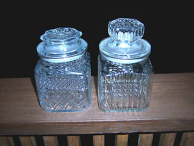 NICE SET  2 HTF VINTAGE KOEZE'S & ANCHOR Apothecary Jars Candy- Buffet Storage](Candy Jar Buffet Set)
