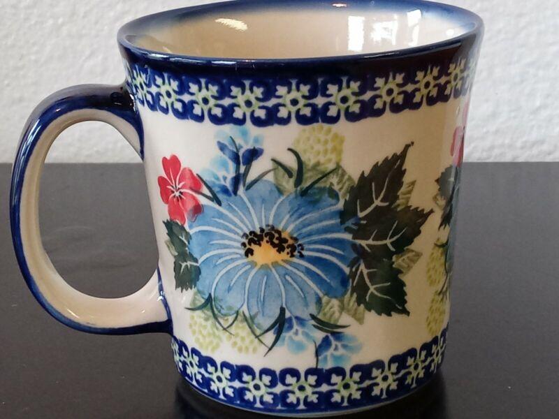 Polish Pottery Kalich Factory UNIKAT Art Pottery Coffee Mug Cup