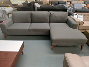 Timber Legged Sofa with Chaise - 60% off RRP Eumemmerring Casey Area Preview