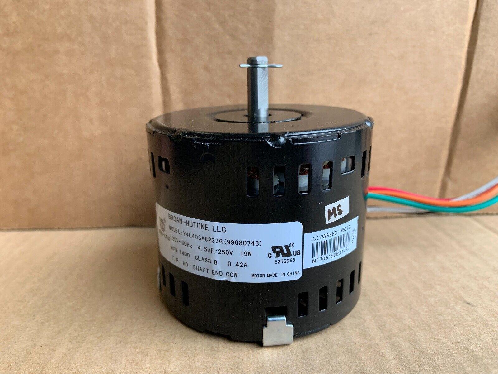 Broan Nutone Replacement Blower Fan Motor Y4L403A8233G 99080743 - $29.95
