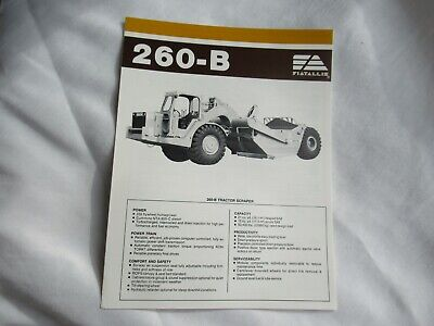 1985 Fiatallis Fiat-allis Chalmers 260-b Tractor Scraper Brochure