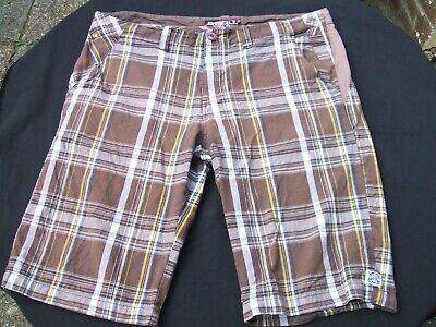 """O'Neill Brown Check Shorts Size 36""""  Surf,Surfing,SUP  100% Cotton"""