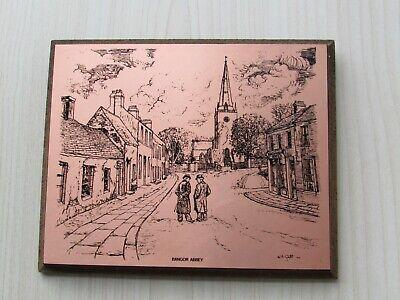 COPPERWARE DESIGNS IRELAND WALL PLAQUE OF BANGOR ABBEY, CO.DOWN BY WA GATTS 1977