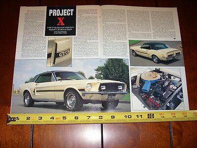 1968 FORD MUSTANG CALIFORNIA SPECIAL GT/CS - ORIGINAL 1994 ARTICLE