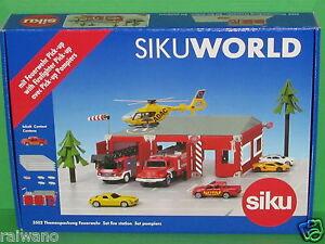 Siku World 5502 Themenpackung Feuerwehr mit 1 Fahrzeug und Zubehör Blitzversand