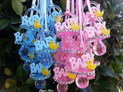 Duckling Pacifier Necklaces Baby Shower Games Duck Favors Prizes U Pick - Duck Baby Shower Decorations