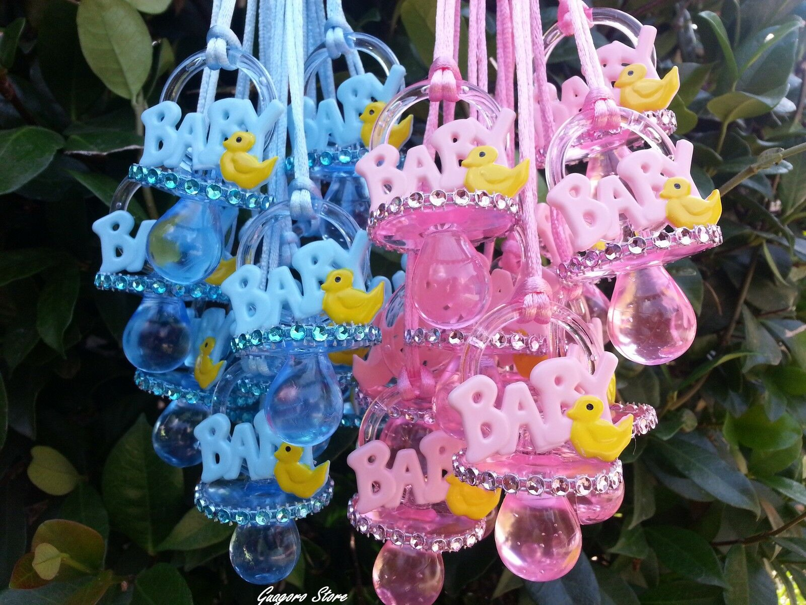 Duckling Pacifier Necklaces Baby Shower Games Duck Favors Prizes U Pick  Color
