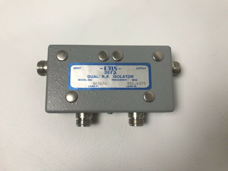 EMR Corp 8650/4 Dual R.F. Isolator ~FREE US SHIPPING~