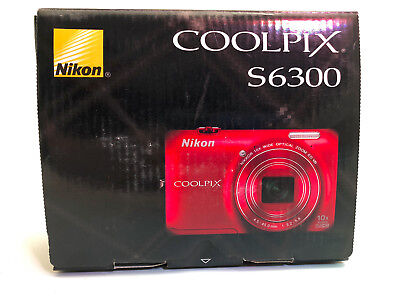 Nikon Coolpix S6300 in box for parts