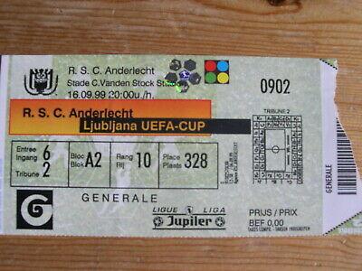 Ticket: Anderlecht - Ljubljana UEFA (16-9-99)