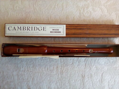 Cambridge Wood Recorder Vtg Made in Germany in Box w/ Chart and Instructions