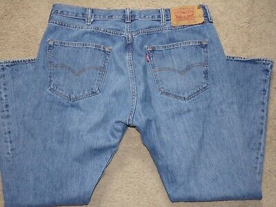 LEVI LEVIS 501 STRAIGHT MEN'S BUTTON FLY JEANS SIZE 38 X 29 RED TAB
