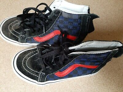 Vans High Tops Kids Boys 11 Skate Off The Wall Trainers Sneakers Rowley