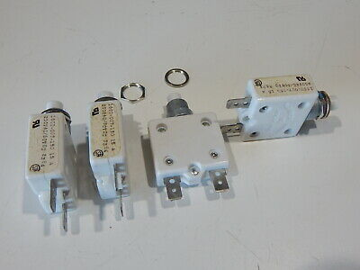 Mechanical Products Push Button Circuit Breaker - 15a 50vdc 250vac - Lot Of 4