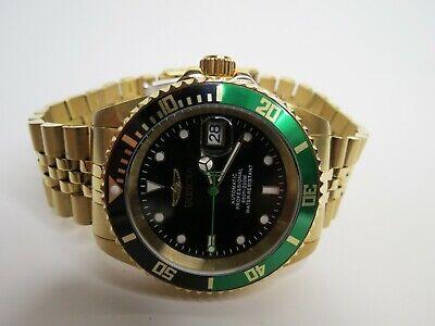 Invicta Men's Automatic Watch Pro Diver 42mm Gold Green Black 29184