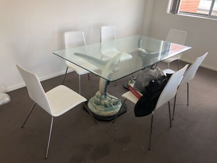 7Piece Glass dining table