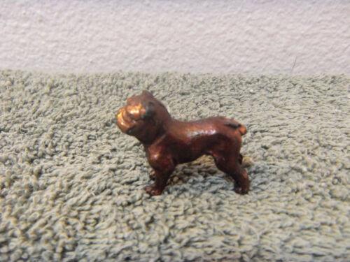 vintage solid copper color metal miniature bulldog