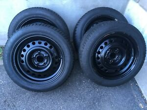 4 winter tires with rims 205/55/16 (5x108)