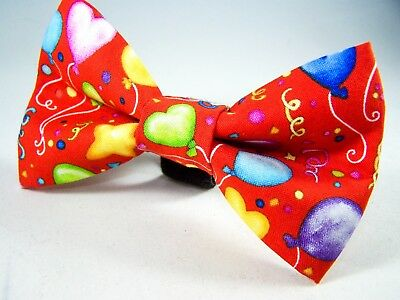 NEW FABRIC DOG BOW TIE * Birthday Party *Handmade USA* FREE SHIPPING Preppy Dog