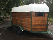 Unique and affordable wood-paneled 3-horse float Noosaville Noosa Area Preview