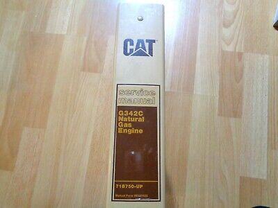 Caterpillar G342c Natural Gas Engine Service Manual 71b750 - Up Good Oem