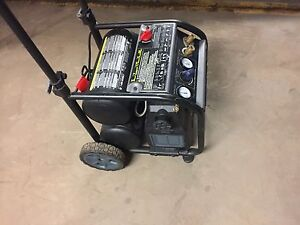 175 PSI Twin Tank 5 Gallon Compressor on wheels