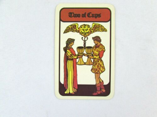 Vintage 1972 Hoi Polloi Tarot *Single Replacement Card* Two of Cups