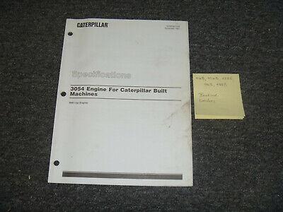 Cat Caterpillar 3054 Engine 416b 426b Backhoe Loader Specs Service Repair Manual