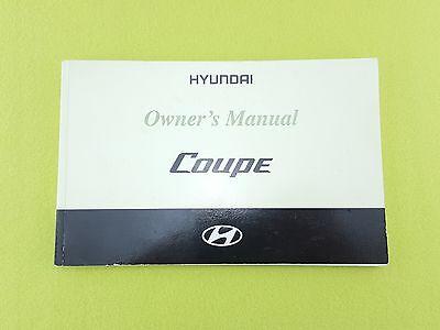 HYUNDAI COUPE (2002 - 2005) Owners Manual / Handbook
