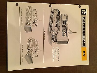 Cat Caterpillar D5 Tractor Dozer Crawler Brochure Original Antique