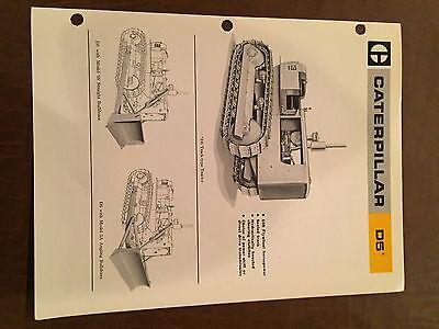 Cat Caterpillar D5 Tractor Dozer Crawler Brochure Original Antique