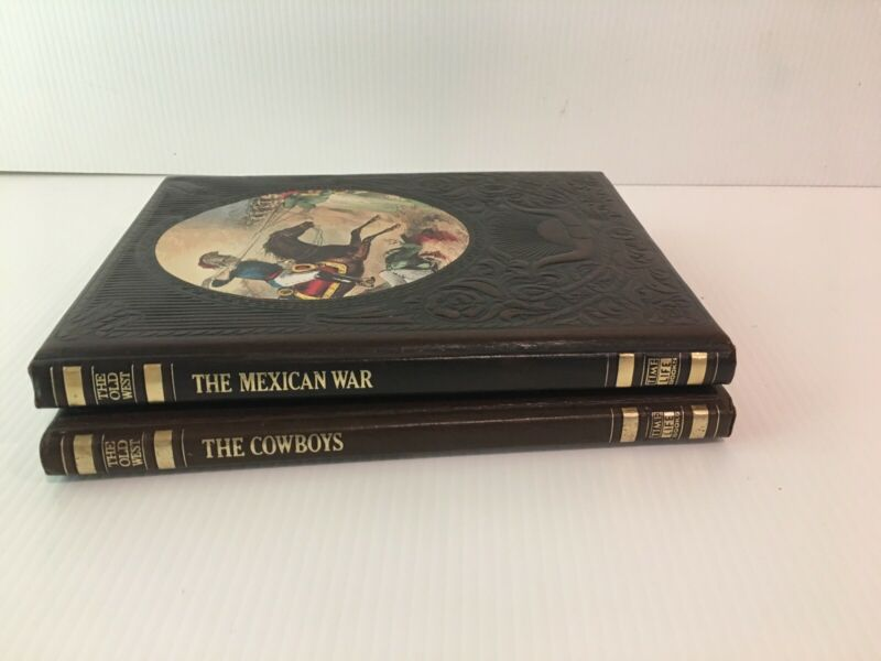 Time Life Books Hardcover The Old West Series The Cowboys 1973 Mexican War 1978
